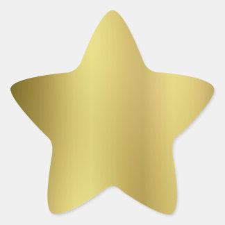 Gold Template Back Customize Star Sticker