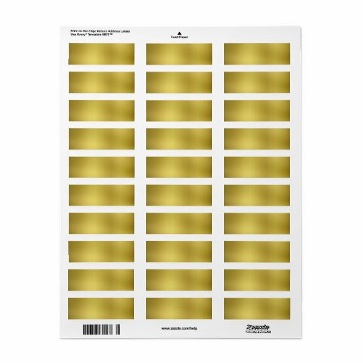 avery 6870 template - gold template background blank label zazzle