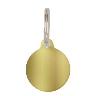 Gold Template Blank Pet ID Tag