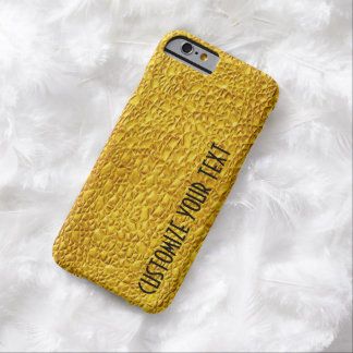 GOLD TEMPLATE CUSTOMIZE TEXT POPULAR FASHION BARELY THERE iPhone 6 CASE