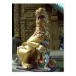 Gold Temple Dragon Postcard