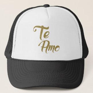 Gold Text Te Amo Trucker Hat