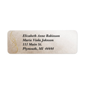 Gold Texture Address Label