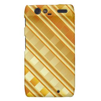 Gold texture motorola droid RAZR cases