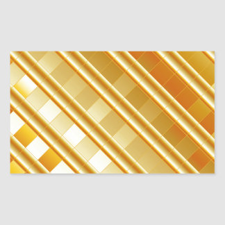 Gold texture rectangle sticker