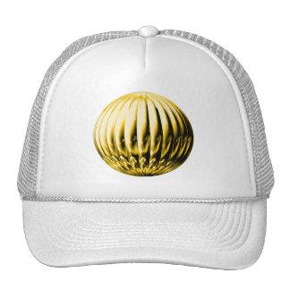 Gold textured ball trucker hat