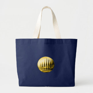 Gold textured ball large tote bag