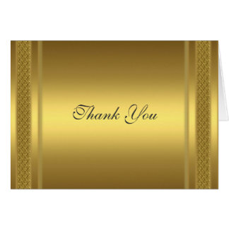 Gold Thank you Card Gold
