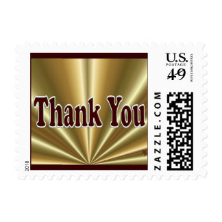 Gold Thank You Stamp- choose size & denomination Postage Stamp