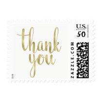 Gold thank you stamps, foil, small postage
