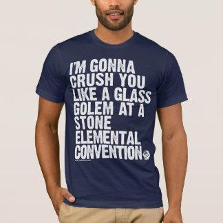 GOLD: The Glass Golem Threat T-Shirt