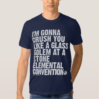 GOLD: The Glass Golem Threat Tshirts