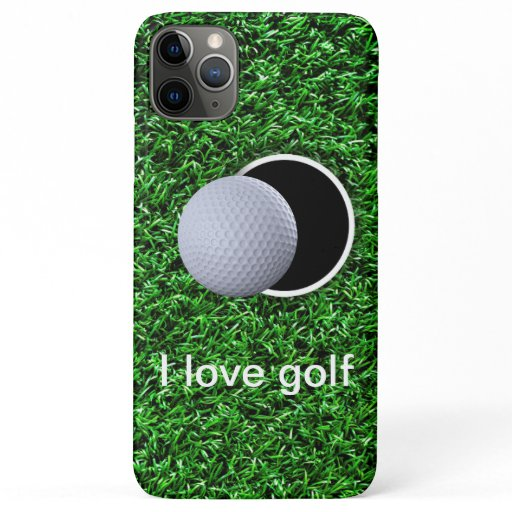 Gold Theme Simple Design For Golf Fanataics iPhone 11 Pro Max Case