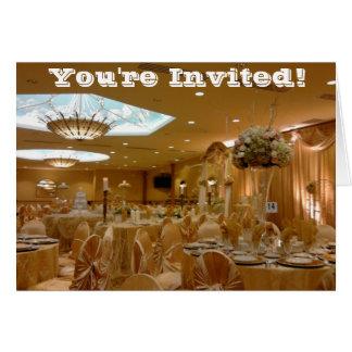 Gold Themed Wedding Invitation