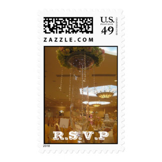 Gold Themed Wedding R.S.V.P Postage Stamps