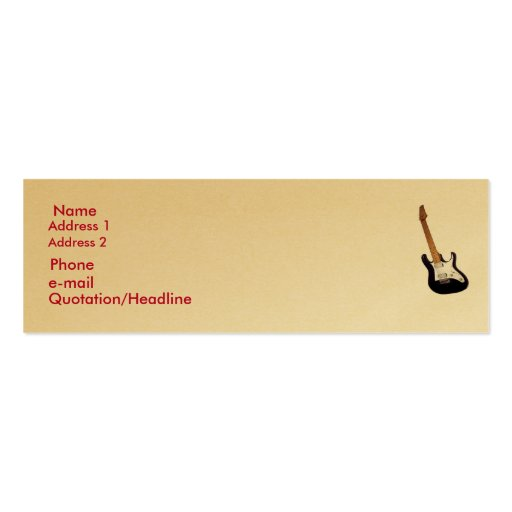 Gold, thin profile card. business card