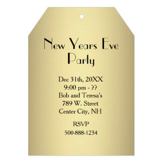 Gold Ticket New Years Eve Invitation Card