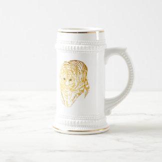 Gold Tiger In The Grass Mug
