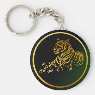 Gold Tiger Keychain