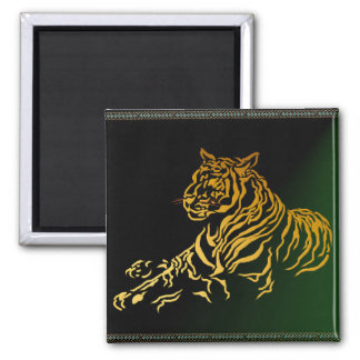 Gold Tiger Magnet