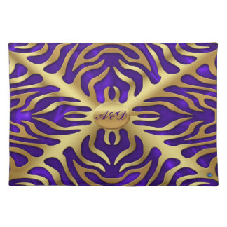 Gold Tiger Purple Satine Lush Placemats