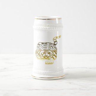 Gold Tiger - Stein Coffee Mug