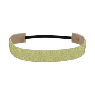 Gold Tinfoil Squiggly Squares Athletic Headband