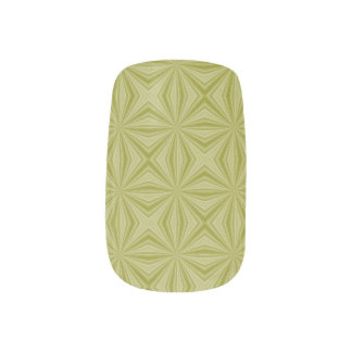 Gold Tinfoil Squiggly Squares Minx Nail Wraps