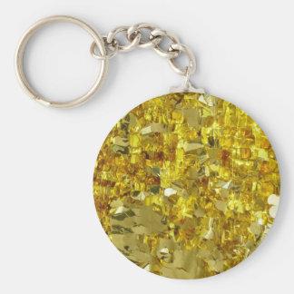 Gold Tinsel Key Chains