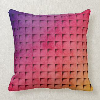 Gold To Purple Gradient Grid Pillow