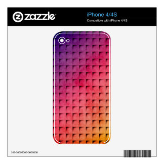 Gold To Purple Gradient Grid Skins For iPhone 4