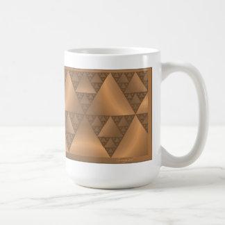 Gold Tone and Brown Metallic Look Fractal Mug