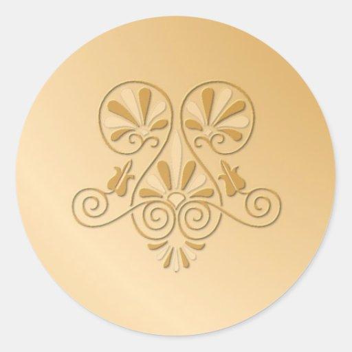gold tone embossed wedding stickers zazzle