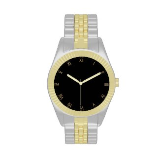 Gold Tone Roman Numeral Wristwatch