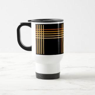 Gold Tone stripe pattern ~editable background Travel Mug
