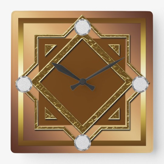 Gold Toned Wall Clock