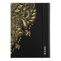 "Gold Tones Glitter Elegant Paisley Ornament iPad Pro 9.7"" Case"