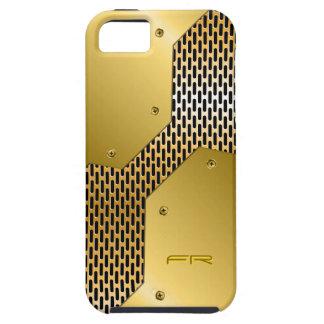 Gold Tones Metallic Look Geometric Pattern. iPhone 5 Cases