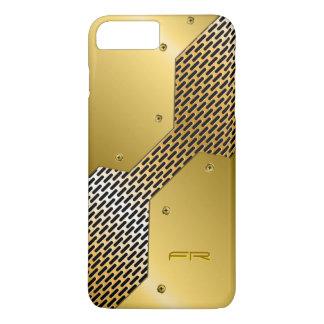 Gold Tones Metallic Look Geometric Pattern. iPhone 7 Plus Case