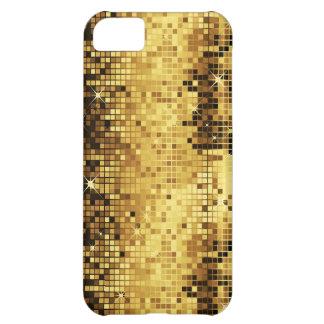 Gold Tones Retro Discoball Glitter iPhone 5C Case