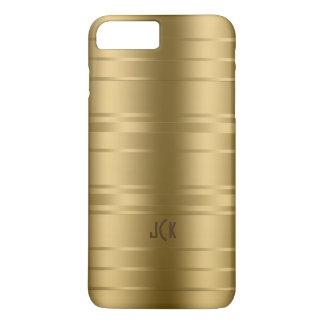 Gold Tones Stripes Modern Design iPhone 8 Plus/7 Plus Case
