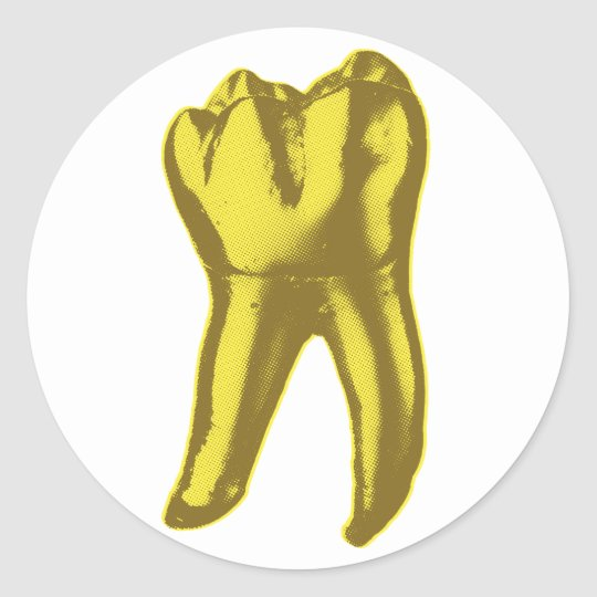 Gold Tooth Classic Round Sticker