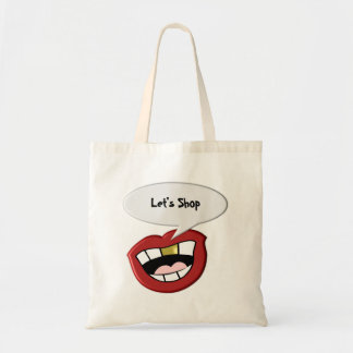 Gold Tooth Mouth Lets Shop Tote Bag