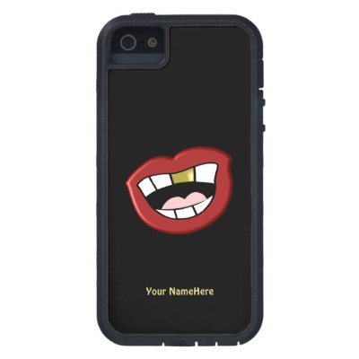 Gold Tooth Mouth Personal iPhone 5 Case
