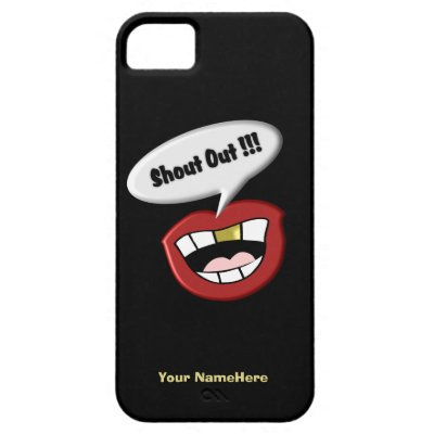 Gold Tooth Mouth Shout Out iPhone 5 Case