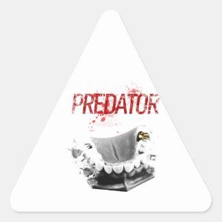 Gold Tooth Predator Triangle Sticker