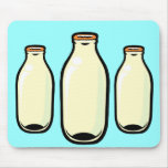 Gold top Milk Bottles Mouse Pads