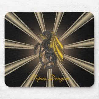 Gold Topaz Dragon Mouse Pad