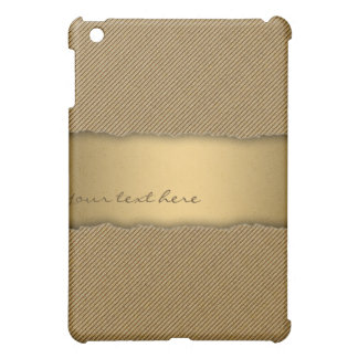 Gold Torn Edge Effect template text banner Case For The iPad Mini