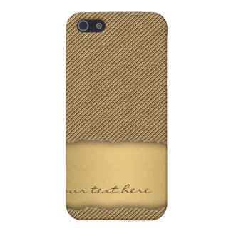 Gold Torn Edge Effect template text banner iPhone SE/5/5s Cover